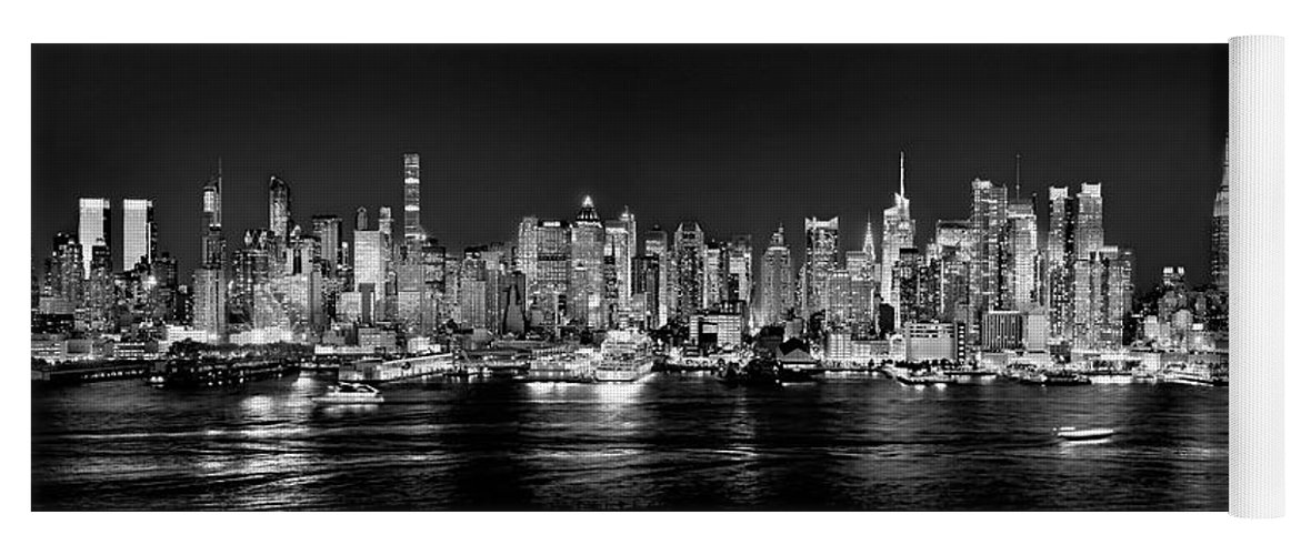 New York City Skyline At Night Yoga