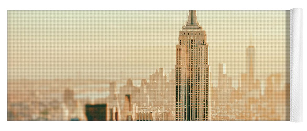 Nyc Yoga Mat featuring the photograph New York City - Skyline Dream by Vivienne Gucwa