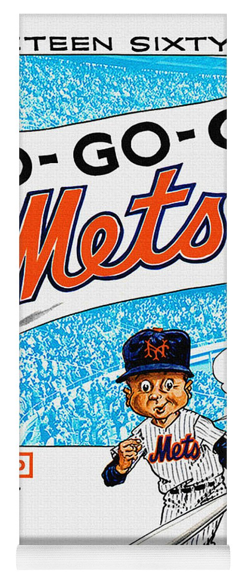 New York Mets 1966 Yearbook Yoga Mat