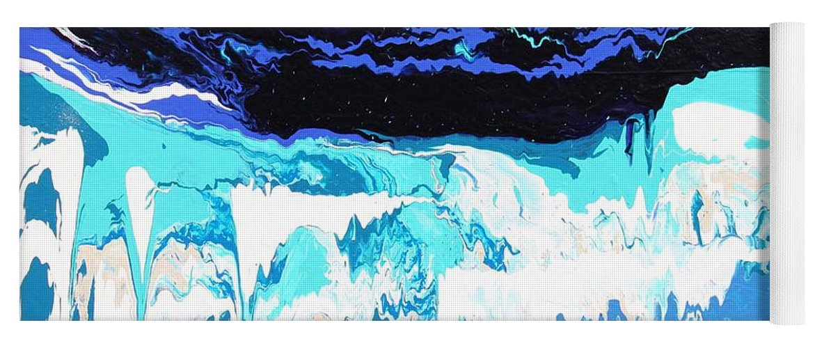 Fusionart Yoga Mat featuring the painting Niagara by Ralph White
