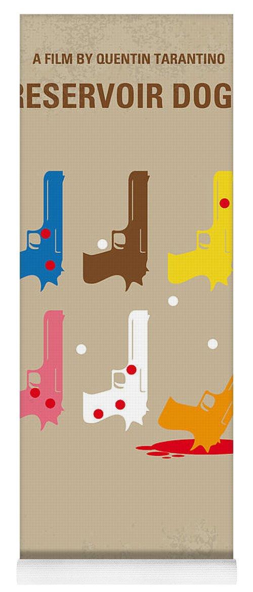 Reservoir Yoga Mat featuring the digital art No069 My Reservoir Dogs minimal movie poster by Chungkong Art