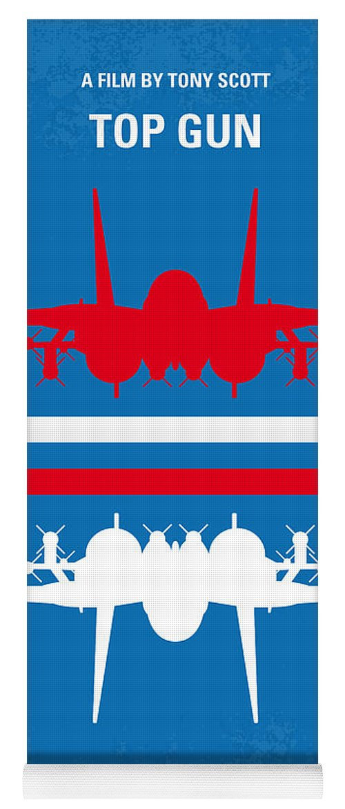 Top Yoga Mat featuring the digital art No128 My Top Gun Minimal Movie Poster by Chungkong Art