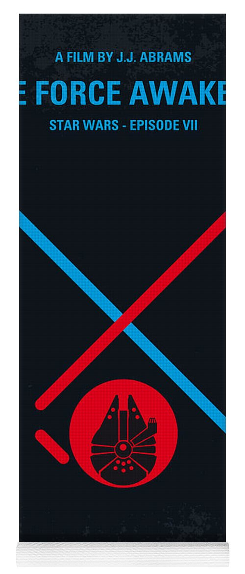 Star Yoga Mat featuring the digital art No591 My STAR WARS Episode VII THE FORCE AWAKENS minimal movie poster by Chungkong Art
