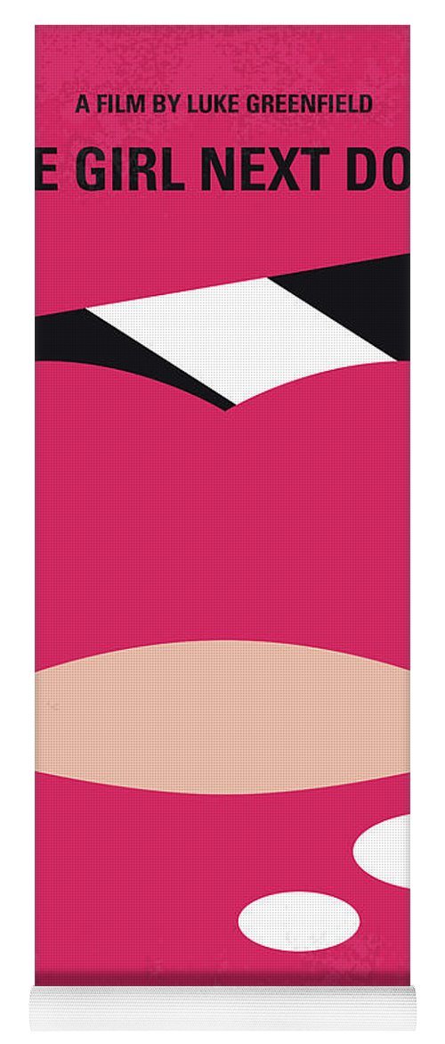 Girl Yoga Mat featuring the digital art No670 My The Girl Next Door Minimal Movie Poster by Chungkong Art