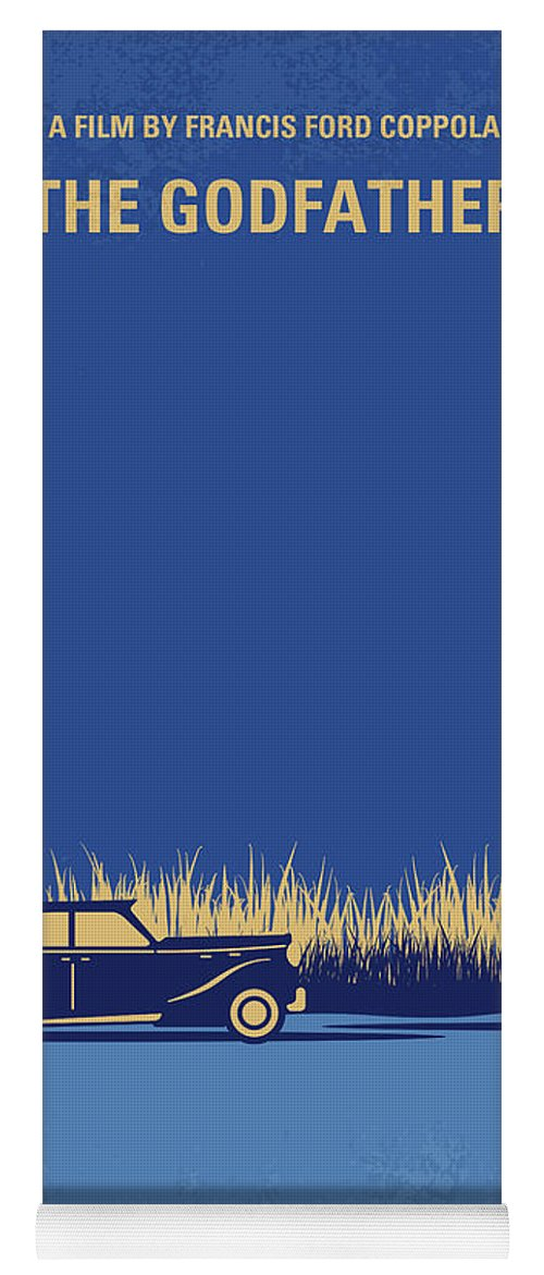 The Yoga Mat featuring the digital art No686-1 My Godfather I Minimal Movie Poster by Chungkong Art