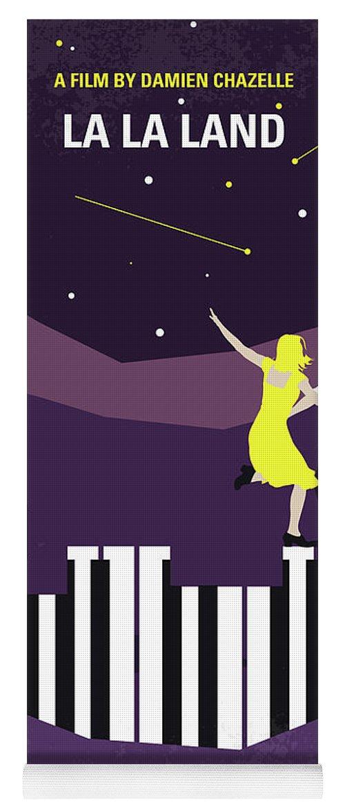 La Yoga Mat featuring the digital art No756 My La La Land Minimal Movie Poster by Chungkong Art