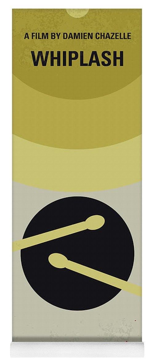 Whiplash Yoga Mat featuring the digital art No761 My Whiplash Minimal Movie Poster by Chungkong Art
