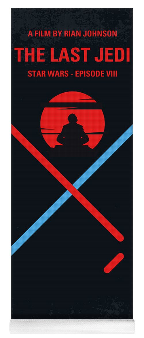 Star Yoga Mat featuring the digital art No940 My STAR WARS Episode VIII The Last Jedi minimal movie poster by Chungkong Art