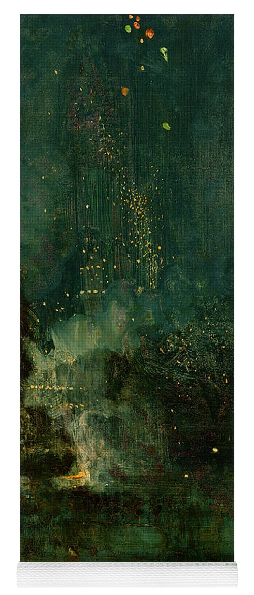 Nocturne Yoga Mat featuring the painting Nocturne In Black And Gold - The Falling Rocket by James Abbott McNeill Whistler