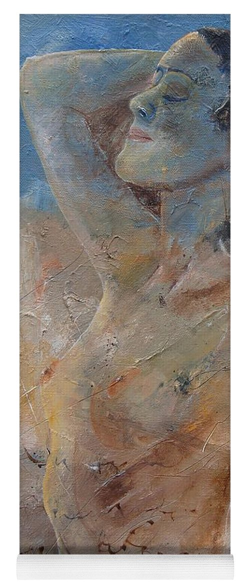 Nude Yoga Mat featuring the painting Nude 0508 by Pol Ledent