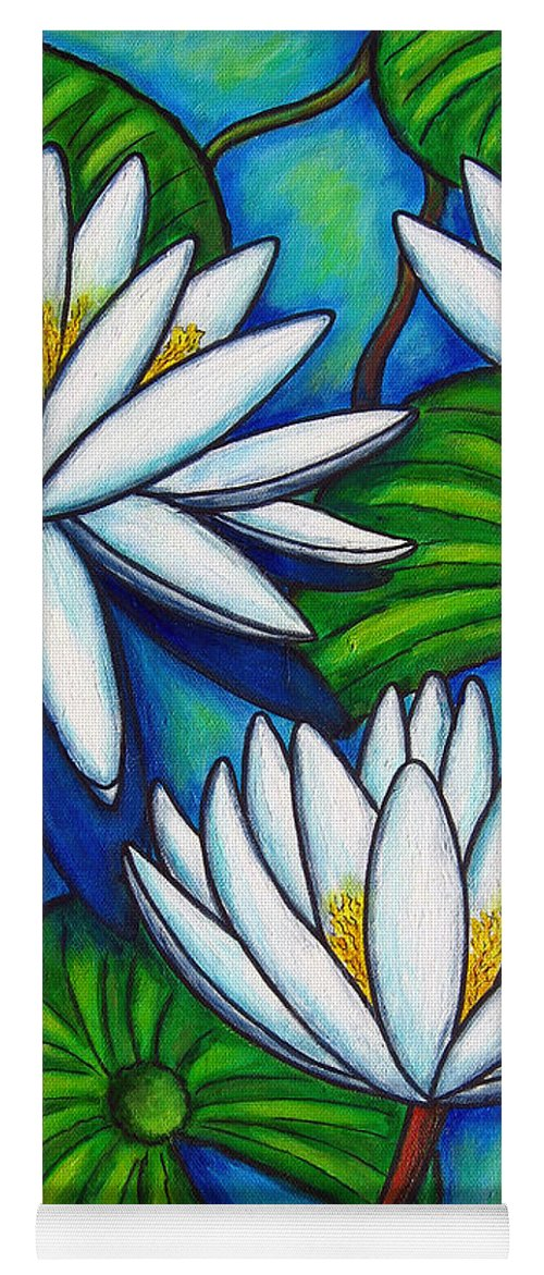Lily Yoga Mat featuring the painting Nymphaea Blue by Lisa Lorenz