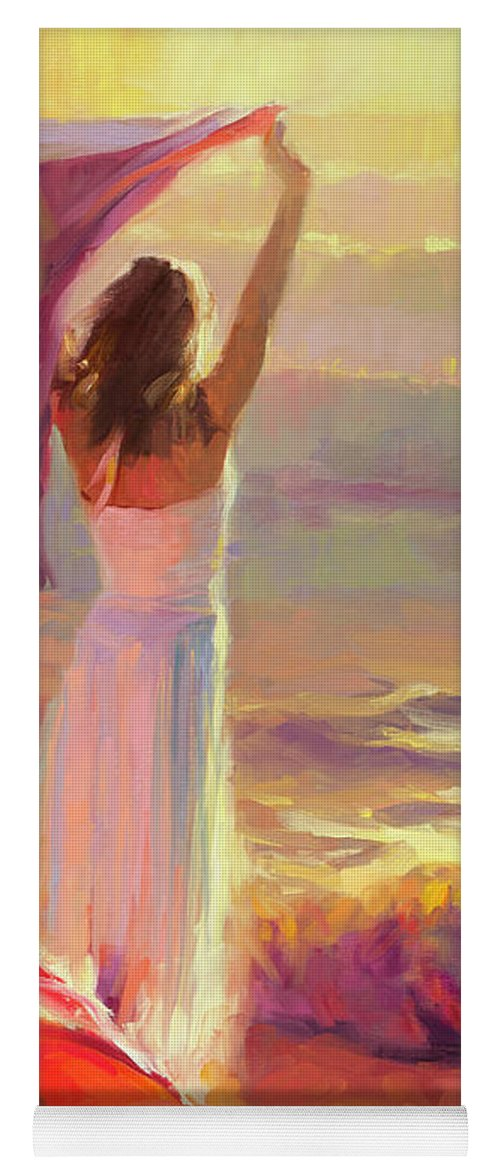 Ocean Yoga Mat featuring the painting Ocean Breeze by Steve Henderson