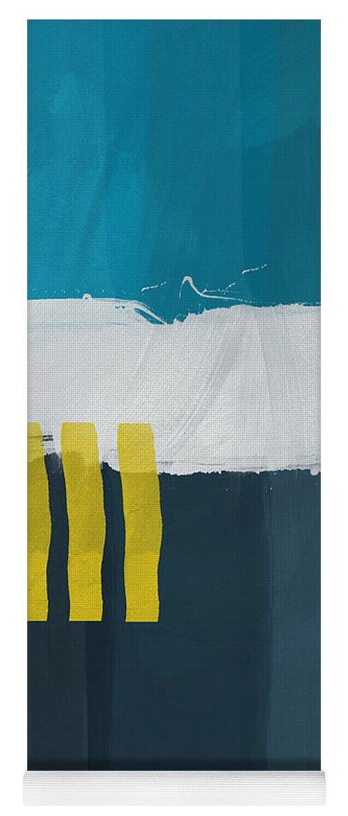 Beach Yoga Mat featuring the painting Ocean Front Walk 2- Art By Linda Woods by Linda Woods