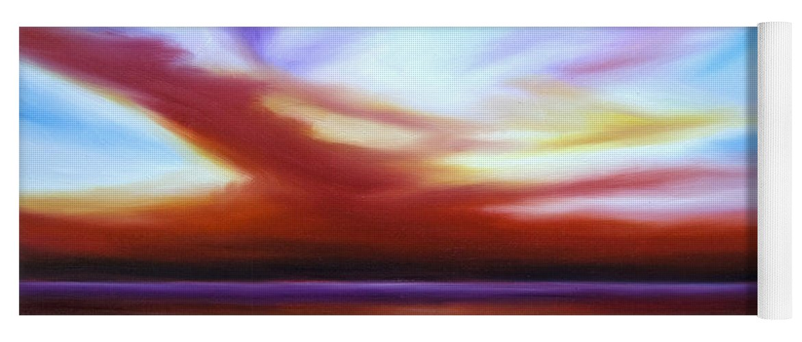 Skyscape Yoga Mat featuring the painting October Sky III by James Christopher Hill