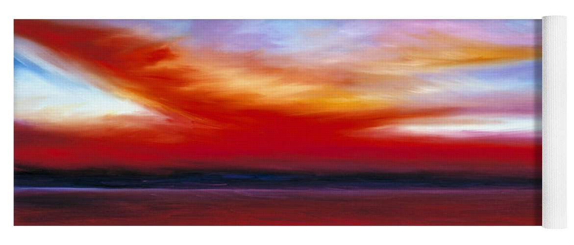 Clouds Yoga Mat featuring the painting October Sky by James Christopher Hill
