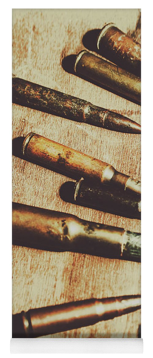 Army Yoga Mat featuring the photograph Old Ammunition by Jorgo Photography - Wall Art Gallery