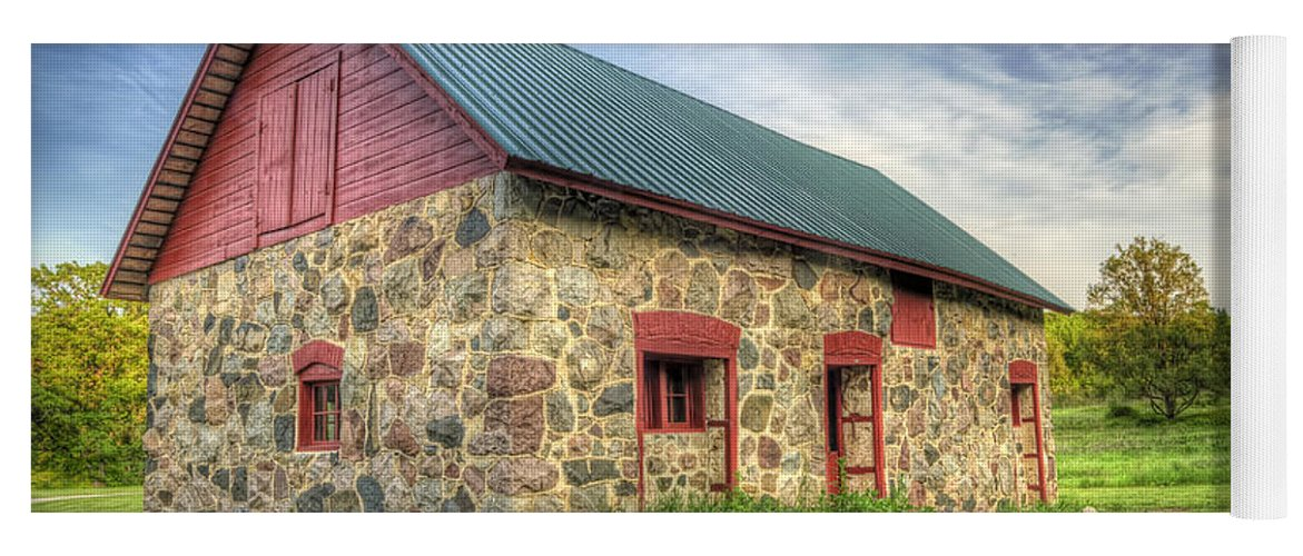 Barn Yoga Mat featuring the photograph Old Barn At Dusk by Scott Norris