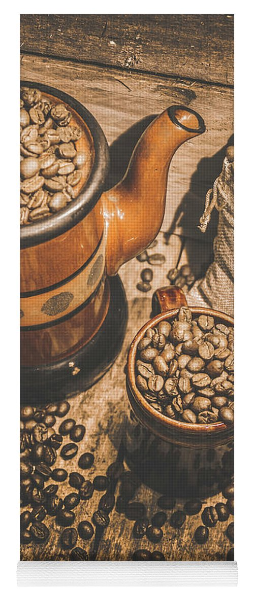 House Yoga Mat featuring the photograph Old Coffee Brew House Beans by Jorgo Photography - Wall Art Gallery