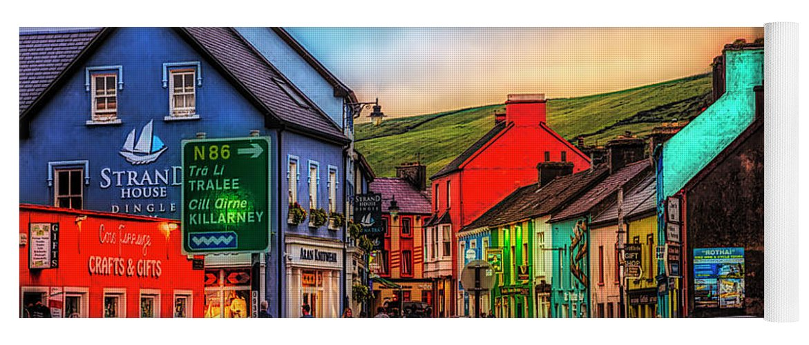 Barn Yoga Mat featuring the photograph Old Irish Town The Dingle Peninsula At Sunset by Debra and Dave Vanderlaan