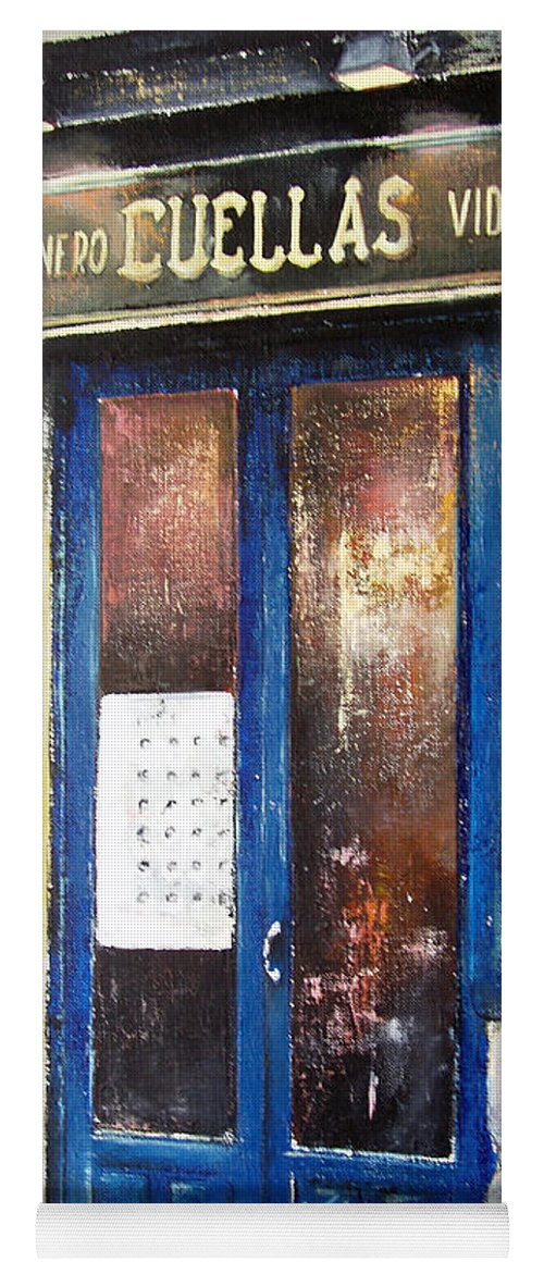 Old Yoga Mat featuring the painting Old Plumbing-Madrid by Tomas Castano