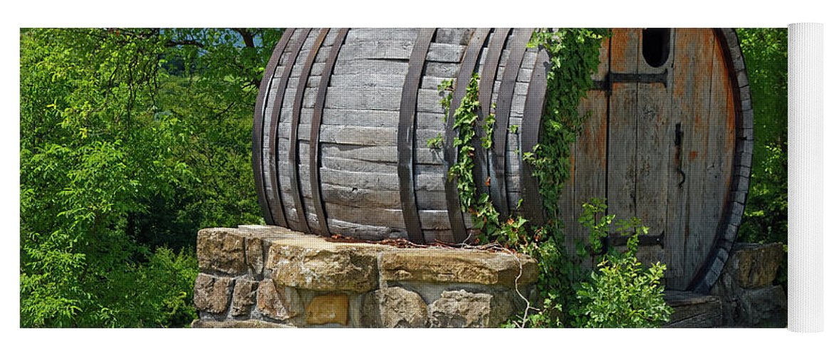 Old Wine Barrel Decoration Yoga Mat For Sale By Sally Weigand