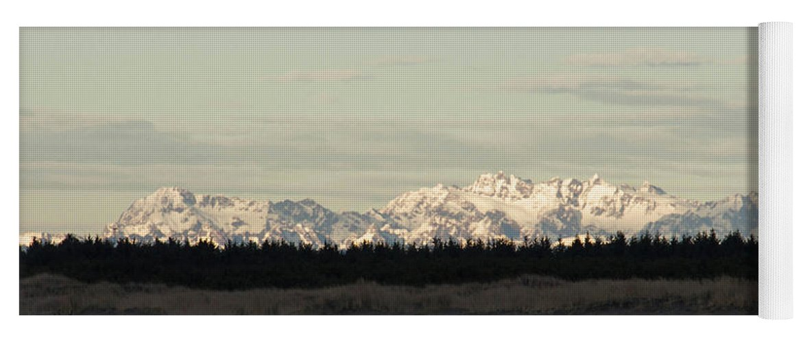 Olympic Mountains Yoga Mat featuring the photograph Olympic Mountains by Cheryl Day