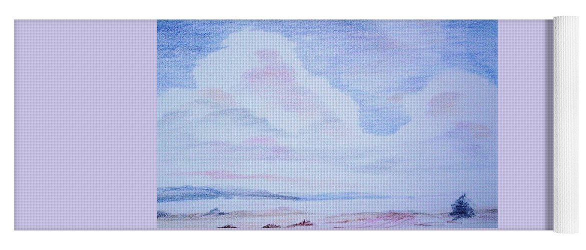 Landscape Painting Yoga Mat featuring the painting On The Way by Suzanne Udell Levinger