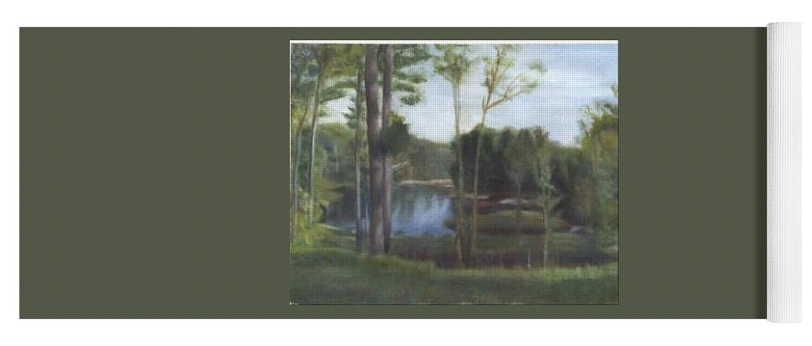 Landscape Yoga Mat featuring the painting Once by Sheila Mashaw