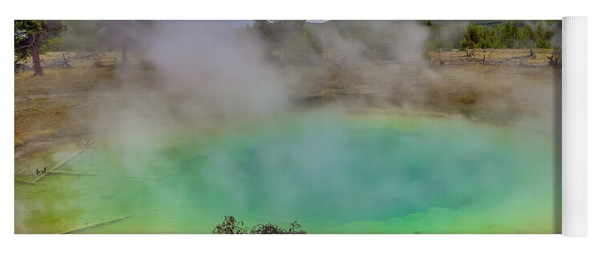 Adventure Yoga Mat featuring the photograph Opal Spring Yellowstone National Park by Scott McGuire