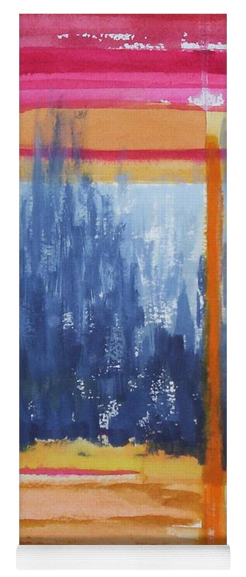Landscape Yoga Mat featuring the painting Opening by Suzanne Udell Levinger