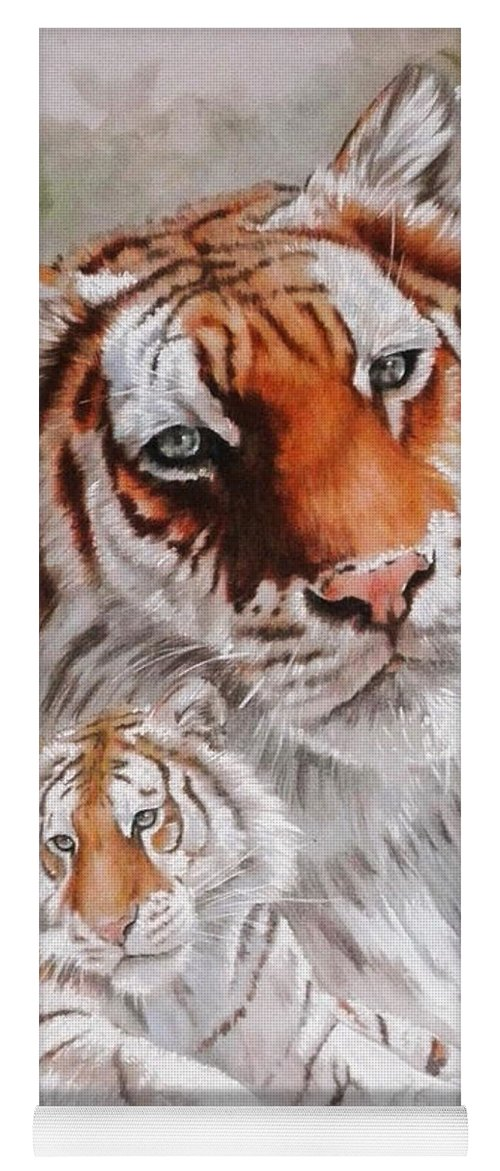 Wildcat Yoga Mat featuring the mixed media Opulent by Barbara Keith