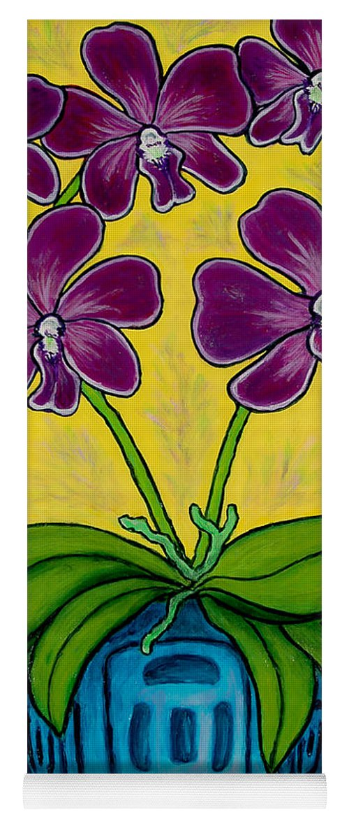 Orchids Yoga Mat featuring the painting Orchid Delight by Lisa Lorenz