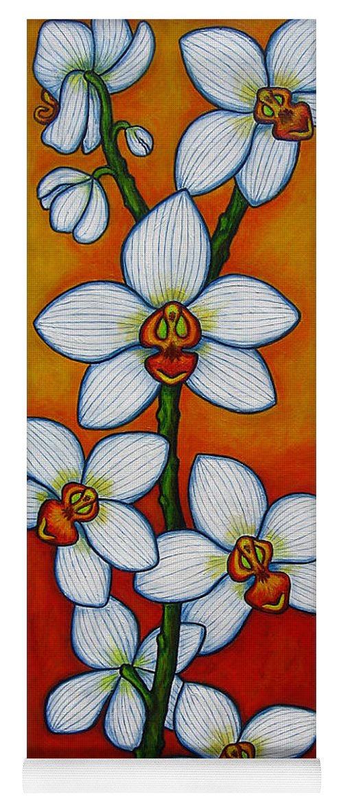 Orchids Yoga Mat featuring the painting Orchid Oasis by Lisa Lorenz
