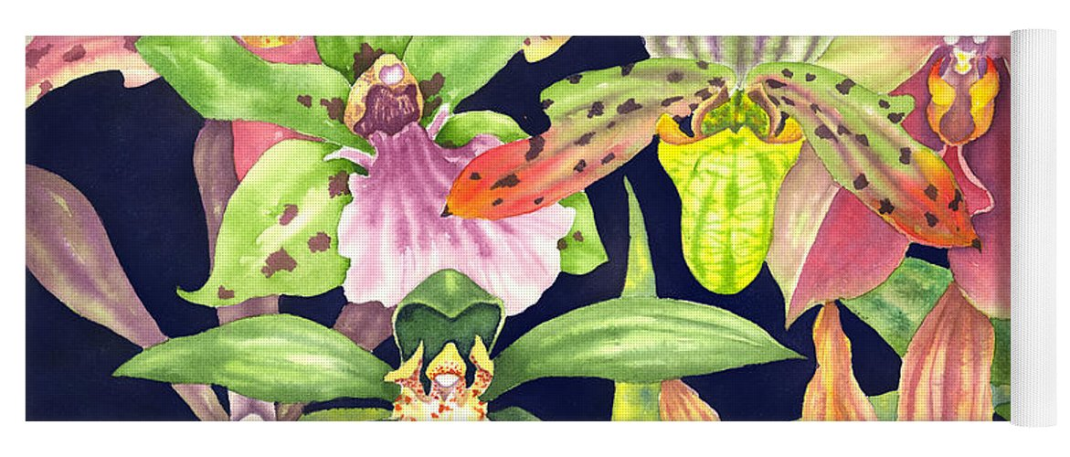 Orchids Yoga Mat featuring the painting Orchids by Lucy Arnold