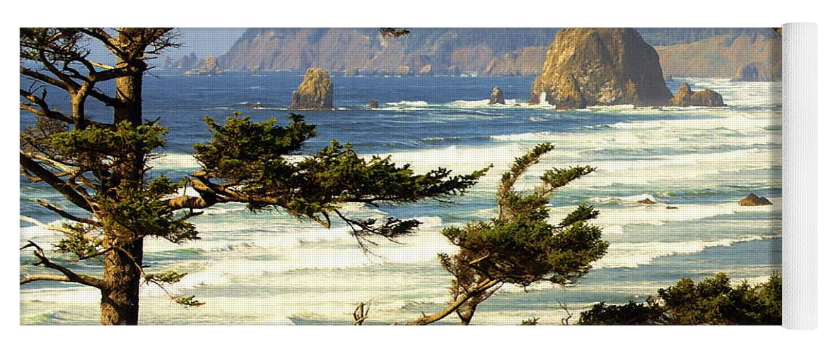 Ocean Yoga Mat featuring the photograph Oregon Coast 15 by Marty Koch