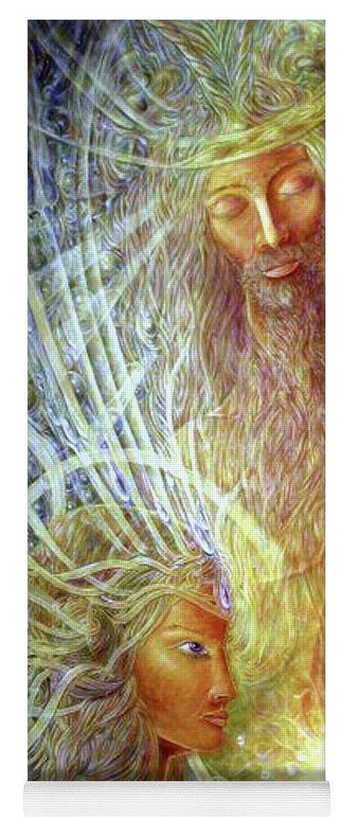 Mythology Yoga Mat featuring the painting Orpheus and Eyridike by Arkis Krayl