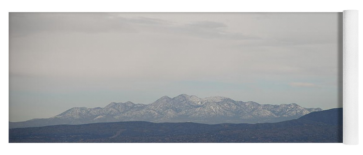 Mountains Yoga Mat featuring the photograph Overcast On The Sandias by Rob Hans