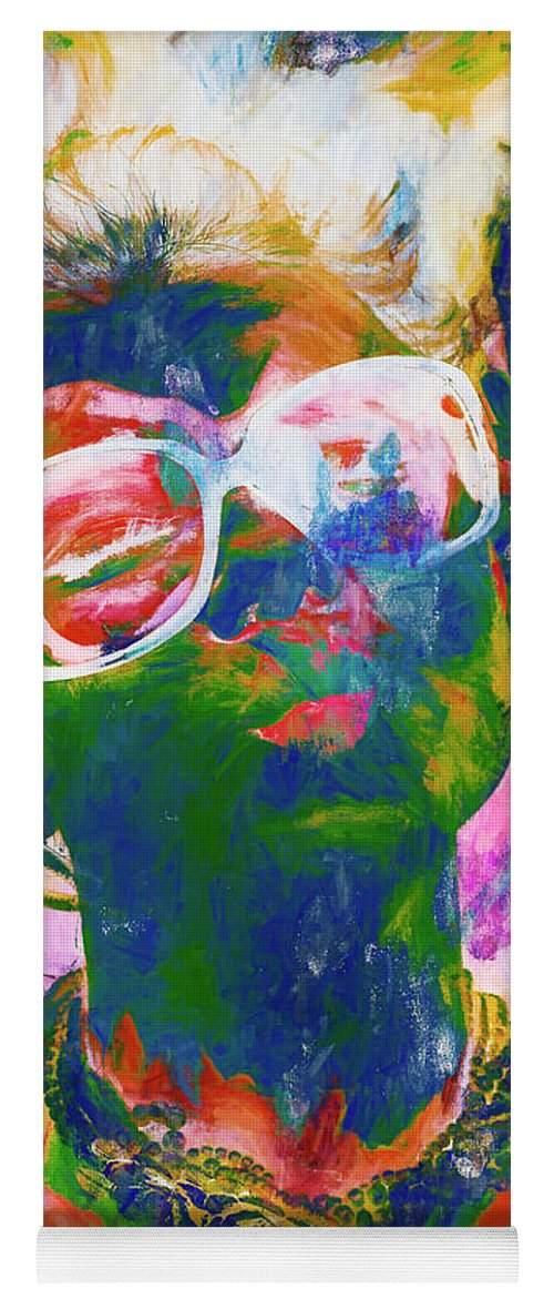 Drawing Yoga Mat featuring the painting Paint Splash Pinup Art by Jorgo Photography - Wall Art Gallery