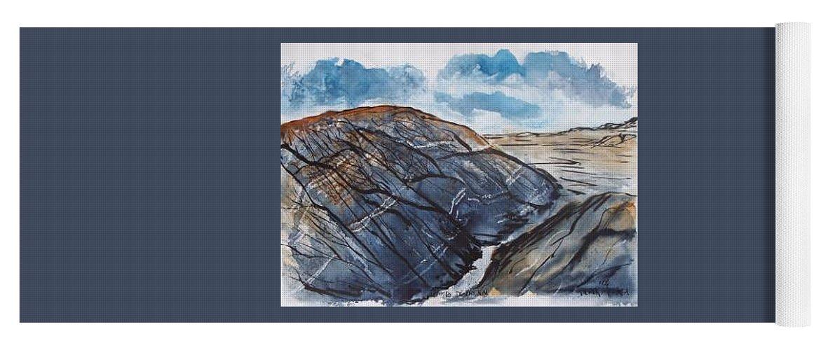 Plein Air Yoga Mat featuring the painting Painted Desert landscape mountain desert fine art by Derek Mccrea