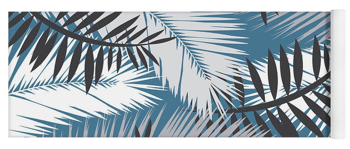 Summer Yoga Mat featuring the digital art Palm Trees 10 by Mark Ashkenazi