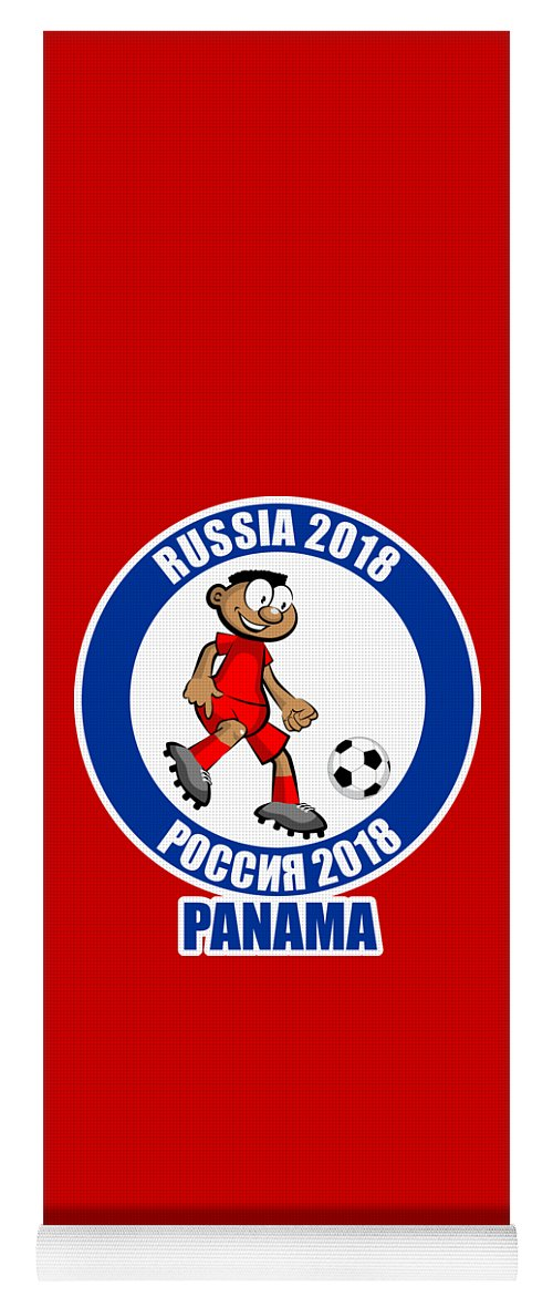 Panama Yoga Mat featuring the drawing Panama In The Soccer World Cup Russia 2018 by Daniel Ghioldi
