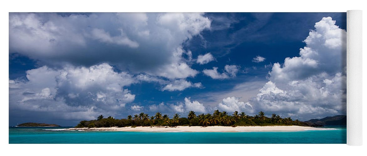 3scape Yoga Mat featuring the photograph Paradise is Sandy Cay by Adam Romanowicz