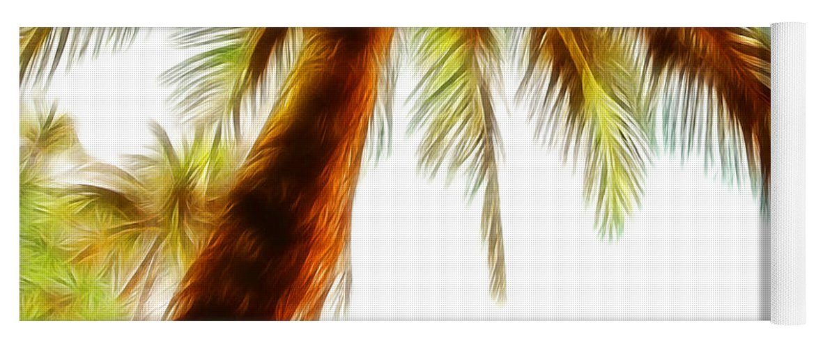 Tropical Palm Trees Yoga Mat featuring the photograph Paradise Palm by Athena Mckinzie