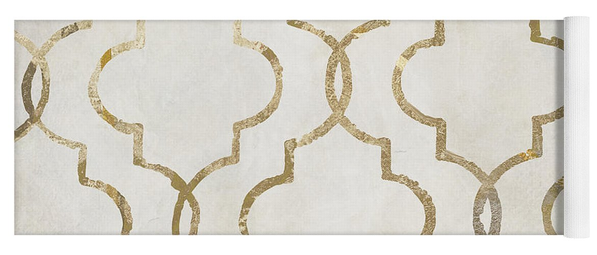 Silver Yoga Mat featuring the painting Paris Apartment Iv by Mindy Sommers