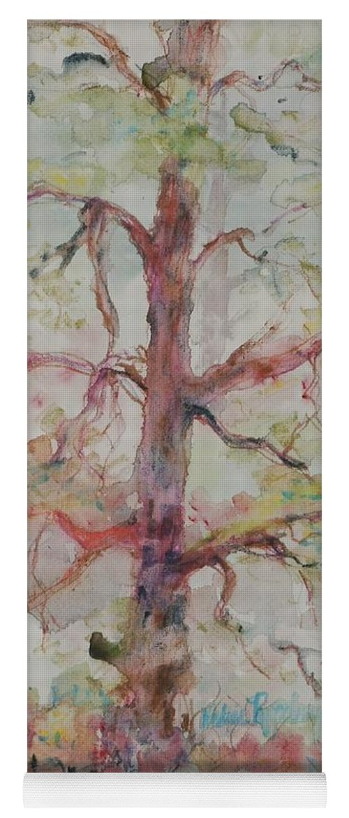 Forest Yoga Mat featuring the painting Pastel Forest by Nadine Rippelmeyer