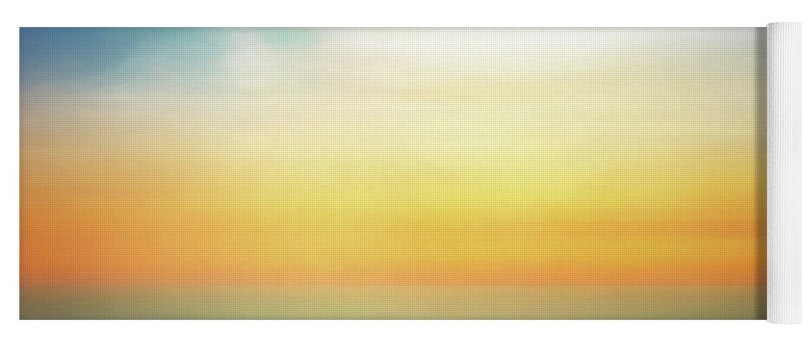 Pastel Yoga Mat featuring the digital art Pastel Sunrise by Scott Norris