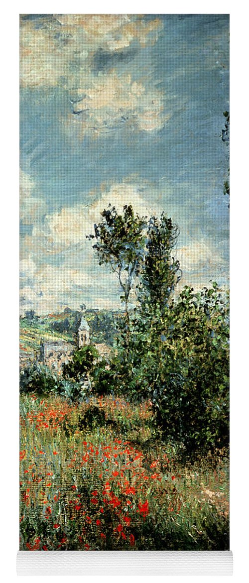 Path Yoga Mat featuring the painting Path through the Poppies by Claude Monet