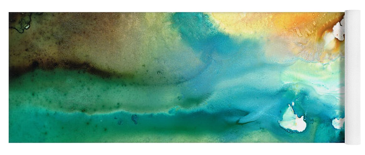 Abstract Art Yoga Mat featuring the painting Pathway To Zen by Sharon Cummings