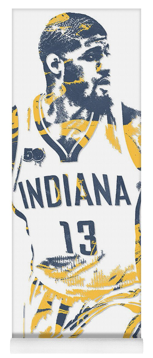 36e8bcd12 Paul George Yoga Mat featuring the mixed media Paul George Indiana Pacers  Pixel Art 10 by