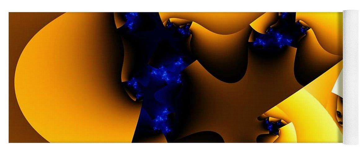 Fractal Art Yoga Mat featuring the digital art Peeling Away by Ron Bissett